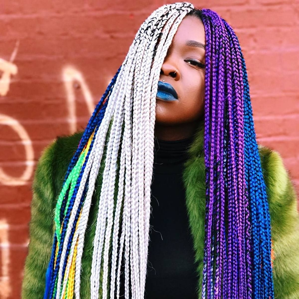 Well Liked Extra Long Blue Rainbow Braids Hairstyles In 3 Hairstylists On Braids, Cultural Appropriation And Media's Erasure (View 14 of 15)
