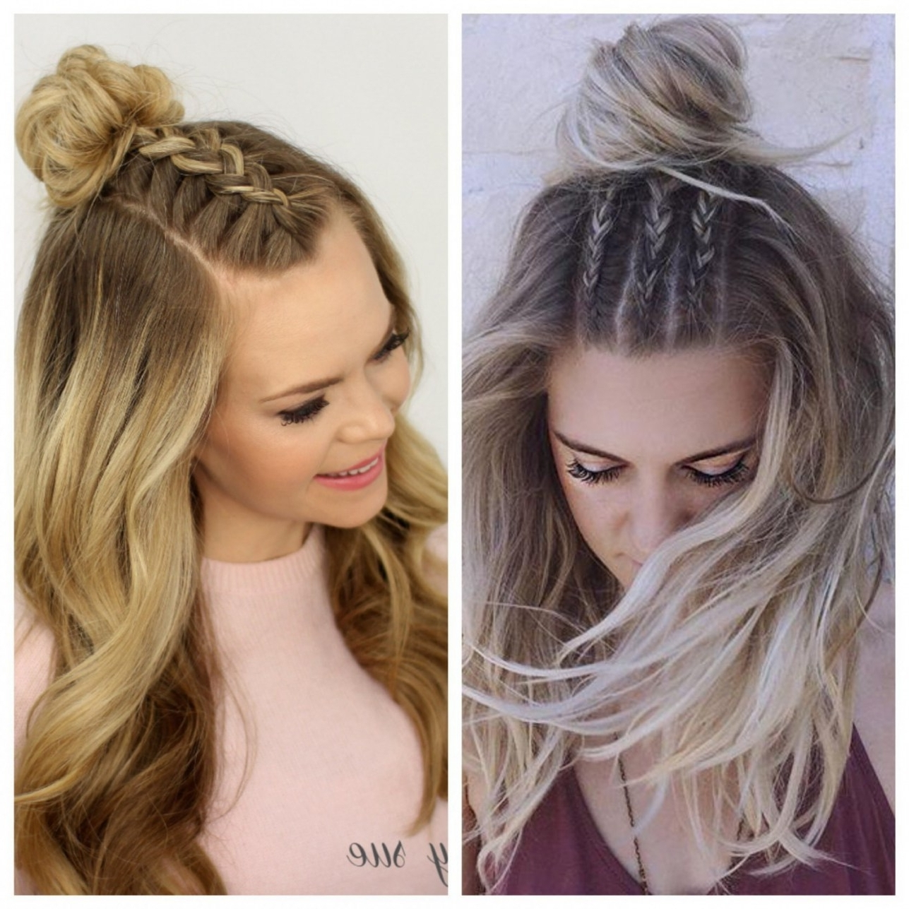 Well Liked Half Up And Braided Hairstyles For Half Braided Hairstyles (View 14 of 15)