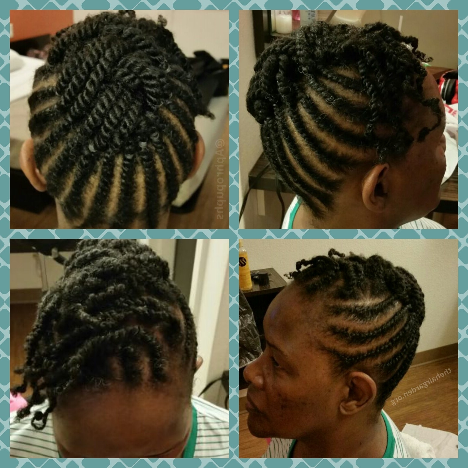 Well Liked Natural Cornrows And Twist Hairstyles Throughout Flat Twist Updo! – The Hair Garden Nursery (View 13 of 15)