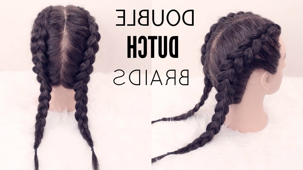 Well Liked Pigtails Braids With Rings For Thin Hair Regarding How To: Double Dutch Braid (View 11 of 15)