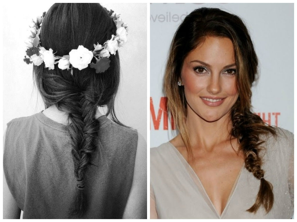 Well Liked Side Braid Hairstyles For Medium Hair For Knotted Crown Braid Hairstyle (View 9 of 15)