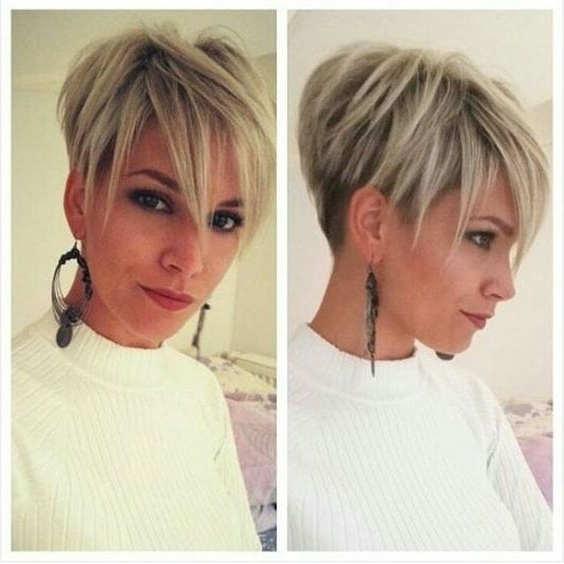 Well Liked Stacked Pixie Bob Haircuts With Long Bangs With Regard To 30 Trendy Stacked Hairstyles For Short Hair – Practicality Short (View 4 of 15)