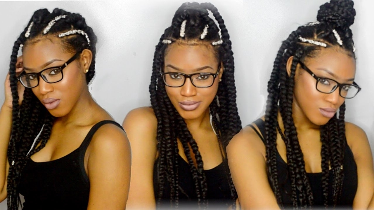 White Triangle Box Braids W/ Small For Most Recently Released Cornrows Hairstyles With White Color (View 15 of 15)