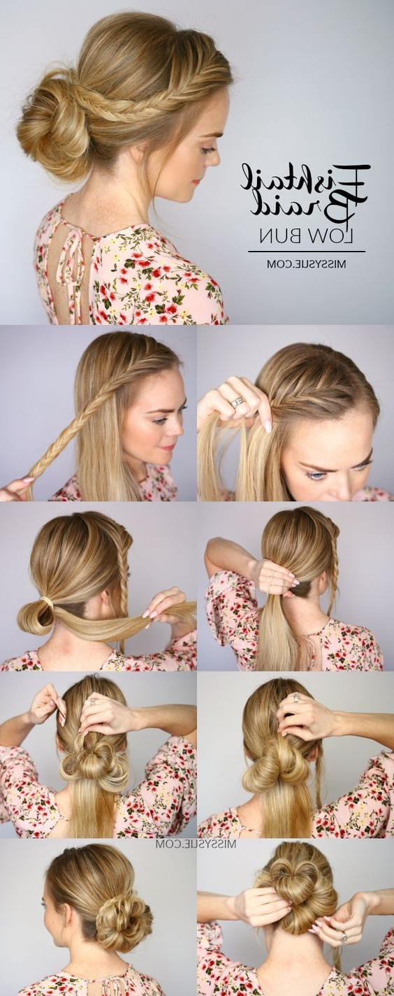 Widely Used Bun And Braid Hairstyles For 18 Easy Braided Bun Hairstyles To Try Asap – Gurl (View 15 of 15)