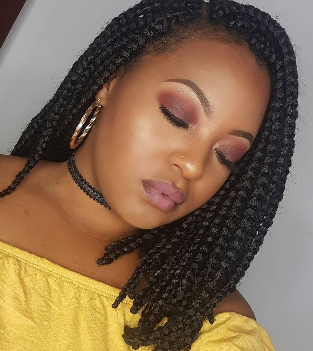 Widely Used Chic Braided Bob Hairstyles Regarding 25 Stunning Black Asymmetrical Braids (View 7 of 15)
