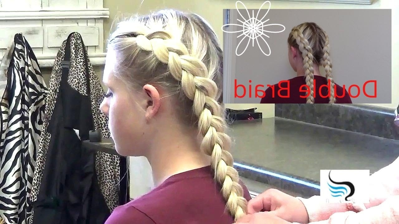 Widely Used Chunky Two French Braid Hairstyles Regarding French Braid Hairstyles – Inside Out French Braid Hairstyle – Youtube (View 15 of 15)
