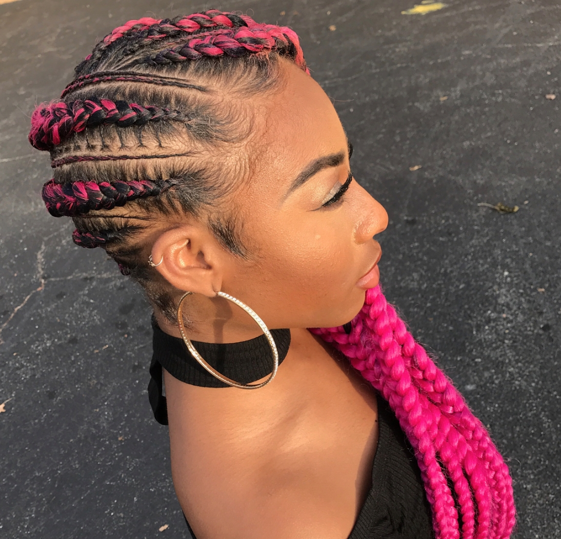 Widely Used Fiercely Braided Hairstyles Pertaining To Fierce Pink Via Braidsjherese – Https://blackhairinformation (View 2 of 15)
