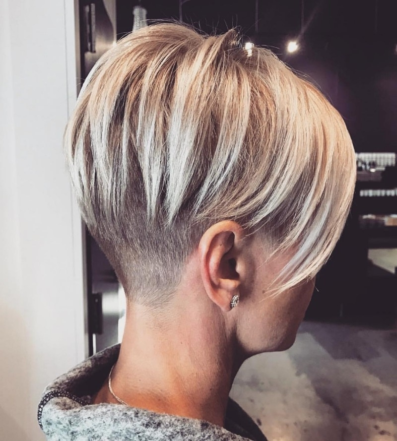 [%Widely Used Finely Chopped Buttery Blonde Pixie Haircuts Intended For 25 Edgy Pixie Undercut Ideas To Try Right Now! [August, 2018]|25 Edgy Pixie Undercut Ideas To Try Right Now! [August, 2018] For Most Recent Finely Chopped Buttery Blonde Pixie Haircuts%] (View 1 of 15)