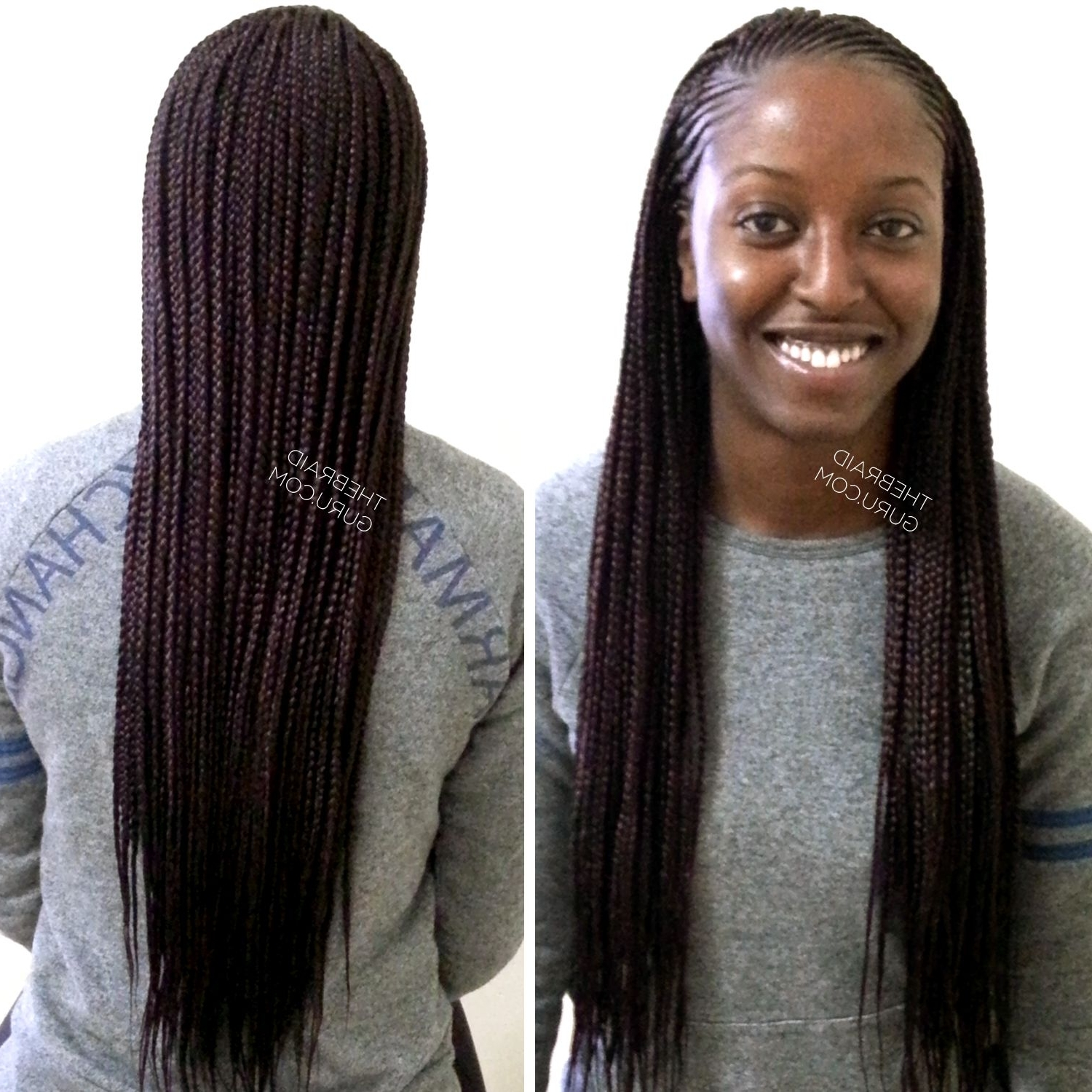 Widely Used Half Cornrows Half Individual Braids For Feed In Cornrows With Individuals – Extra Long Braids (View 12 of 15)