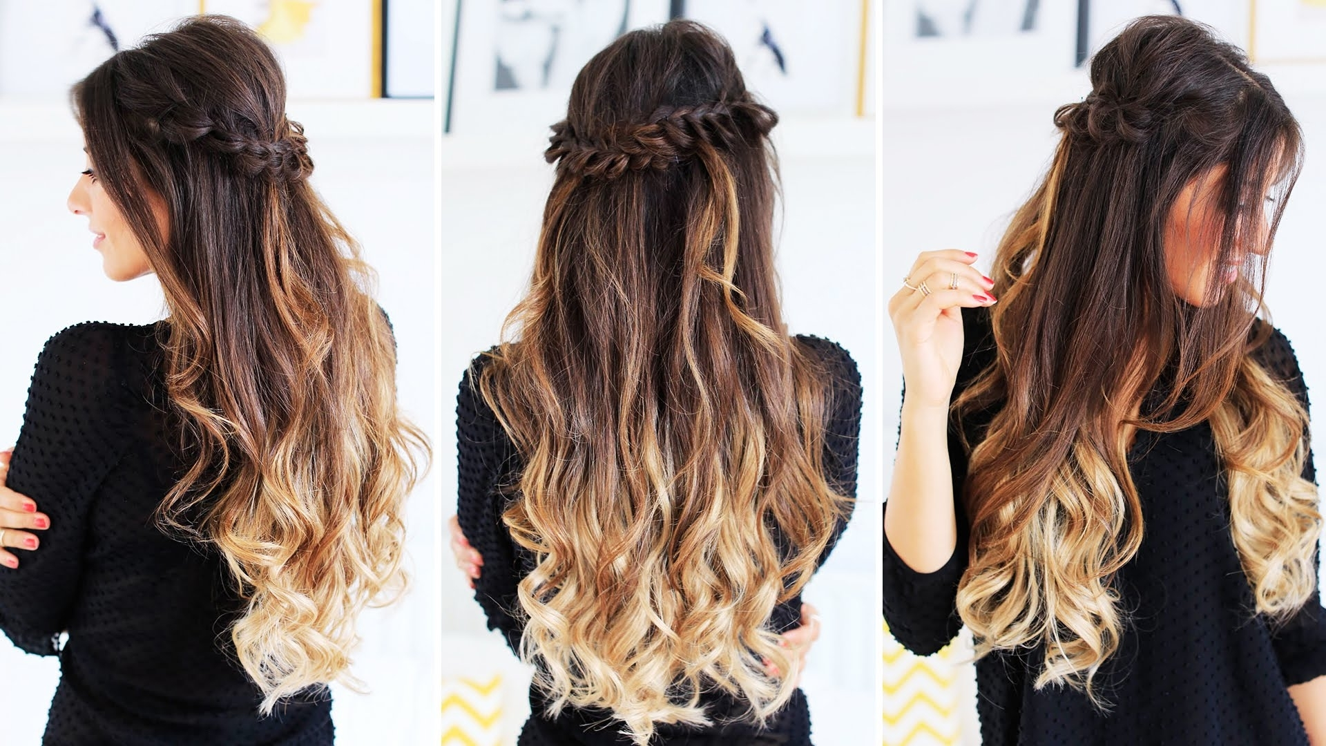 Widely Used Half Up And Braided Hairstyles With Half Up Loop Braid (View 4 of 15)