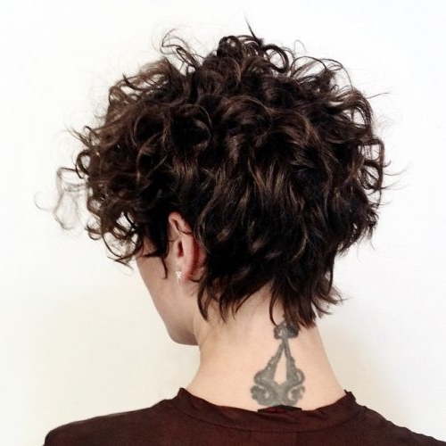 Widely Used Long Curly Pixie Haircuts Pertaining To 33 Hottest Short Curly Hairstyles Trending In  (View 15 of 15)