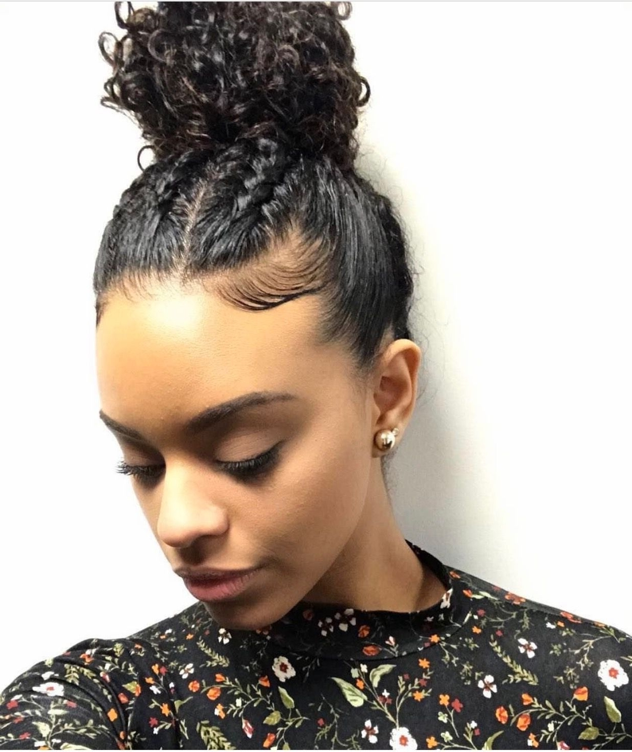 Widely Used Mixed Braid Updo For Black Hair With Regard To Pinterest:@deshanayejelks Http://gurlrandomizer (View 2 of 15)