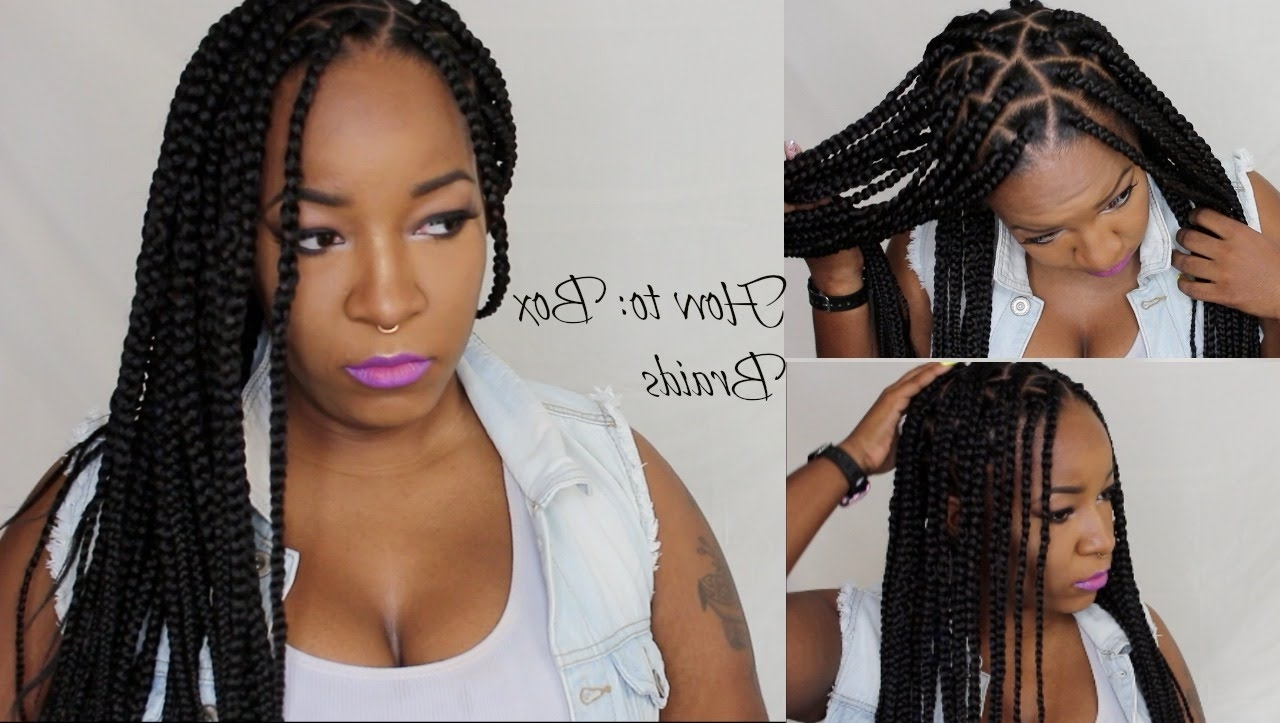 Widely Used Triangle Box Braids Hairstyles Within How To Box Braids/triangle Braids – Youtube (View 15 of 15)
