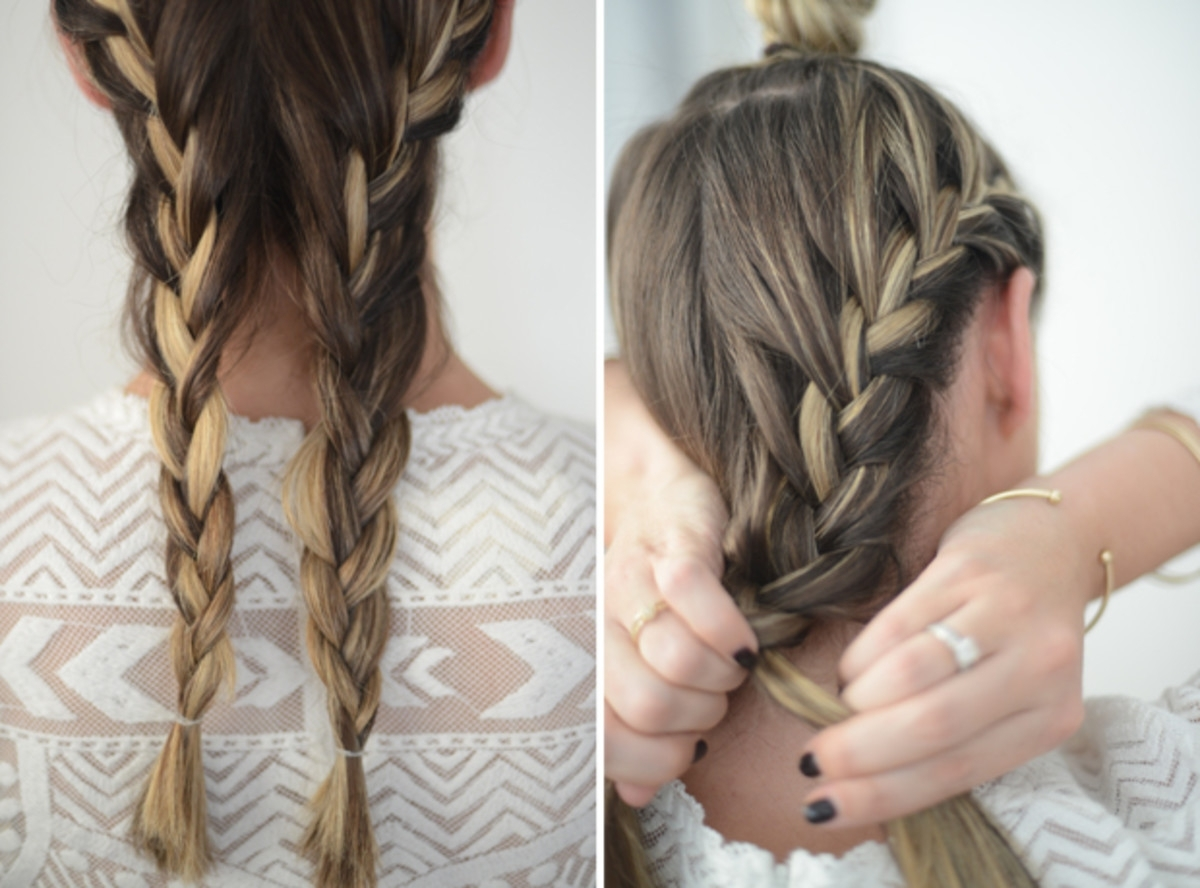 Widely Used Triple Braid Hairstyles With Regard To Relaxed Triple Braid – Cupcakes & Cashmere (View 8 of 15)