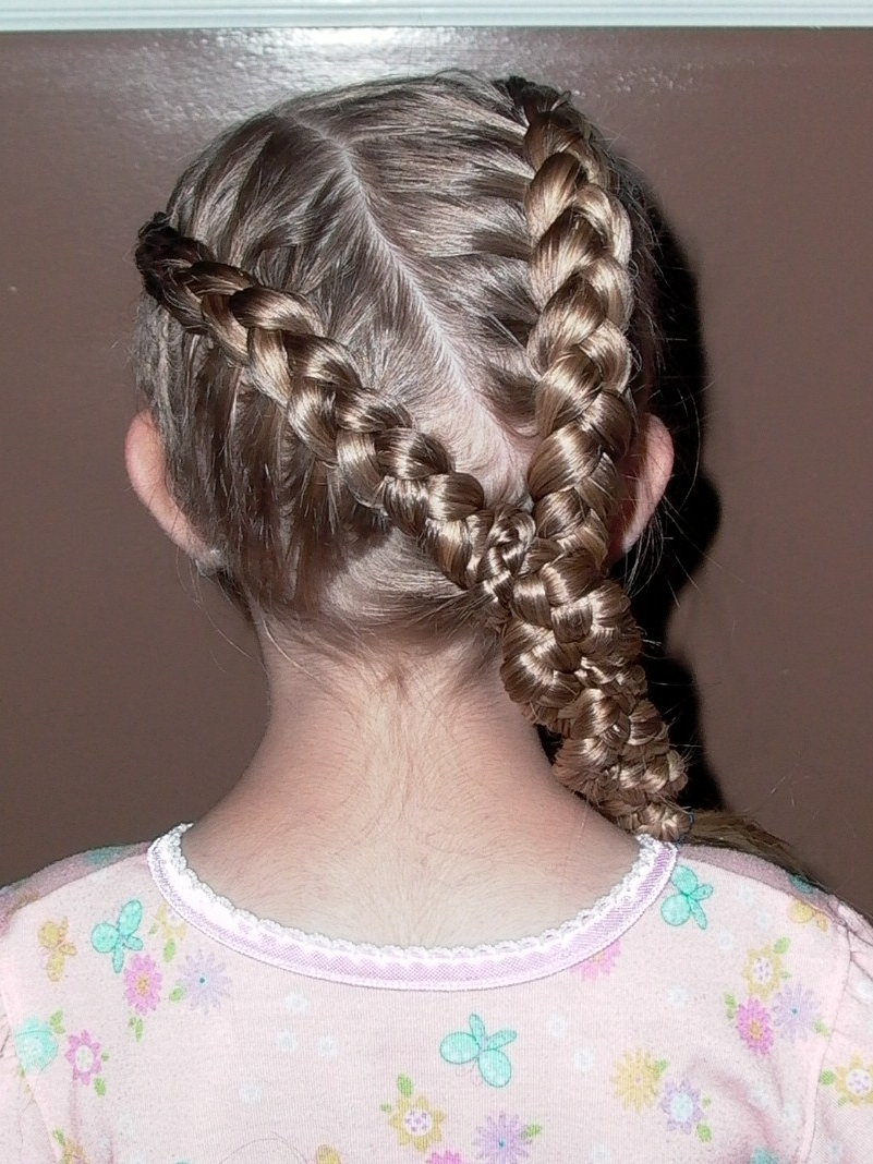 Widely Used Triple The Braids Hairstyles Throughout Maya Sidik: Little Girl's Hairstyles – How To Do A Triple Braid  (View 15 of 15)
