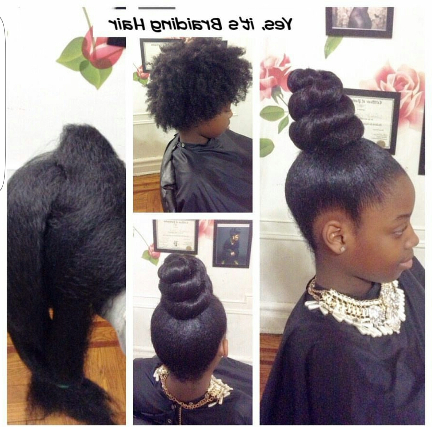 Yes, I Used Braiding Hair For This Bun/ponytail – Www (View 6 of 15)