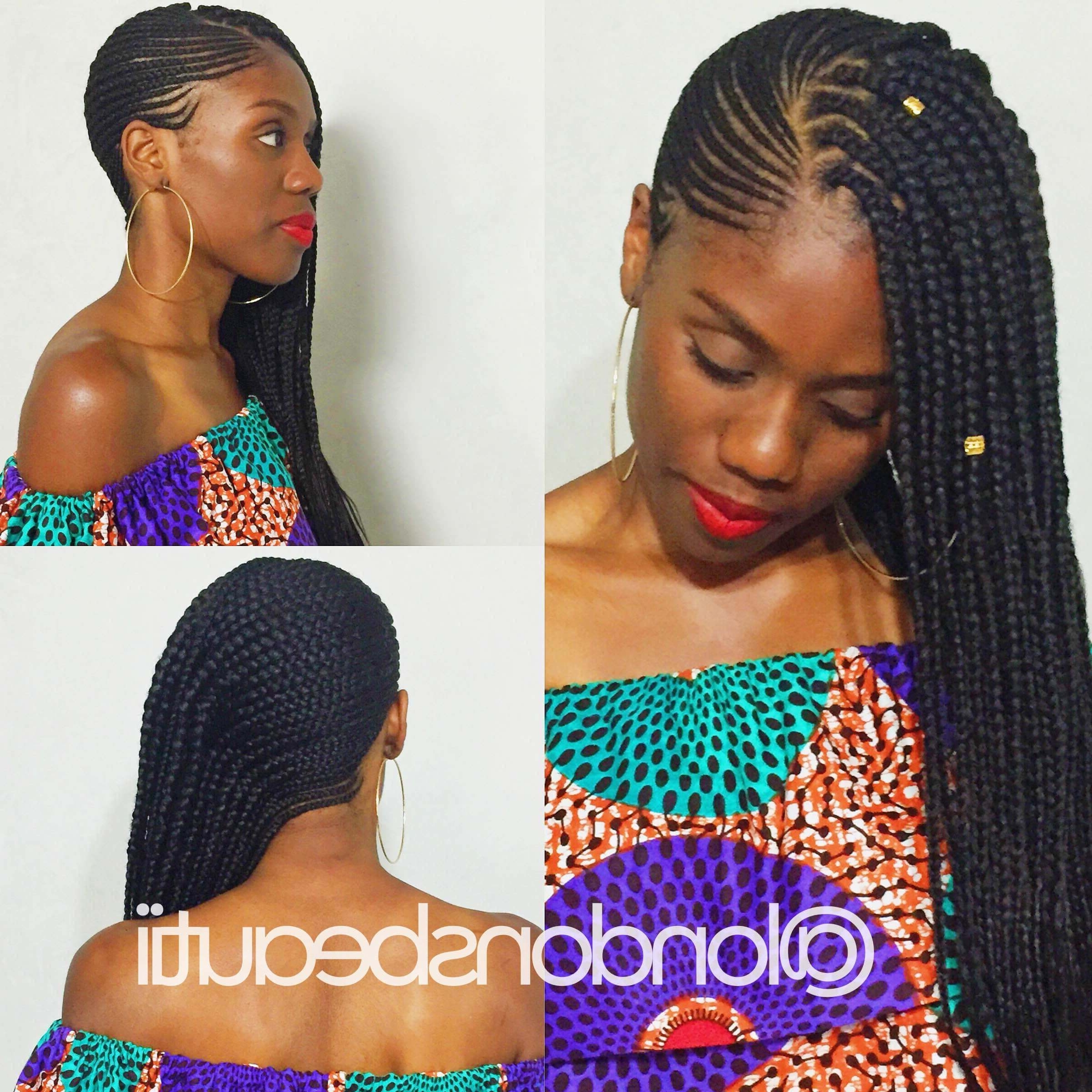 You Have To Try 'lemonade Braids', The Beyonce Inspired Side Cornrow For Favorite Cornrows Hairstyles With Swoop (View 15 of 15)