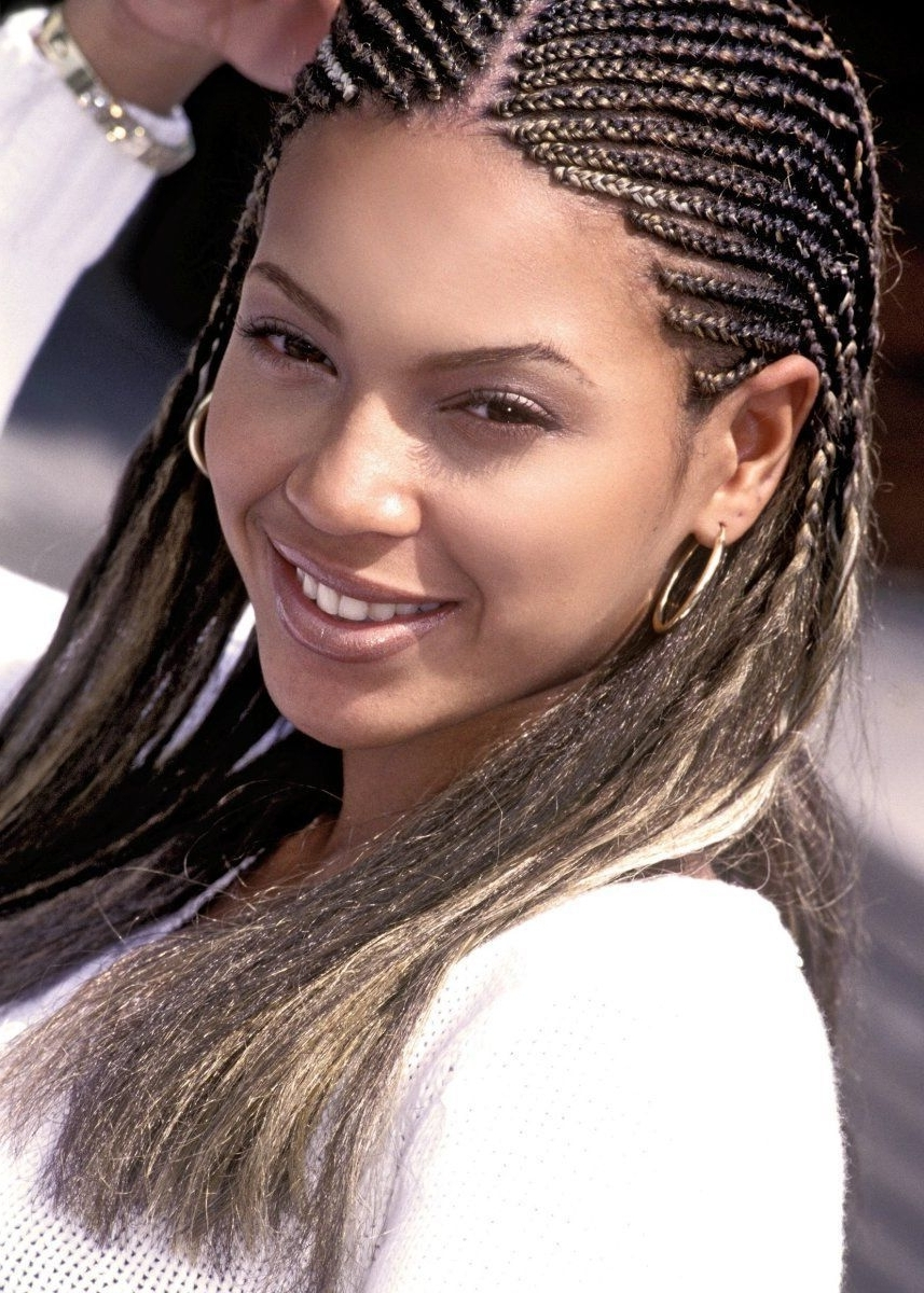 Young Teen Beyonce Natural Beauty Braids Cornrows Medium Length Intended For Most Current Beyonce Cornrows Hairstyles (Gallery 12 of 15)