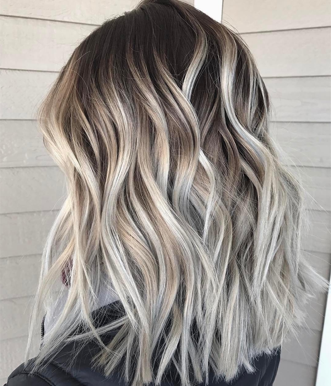 10 Best Medium Hairstyles For Women – Shoulder Length Hair Cuts 2018 Intended For Most Recently Released Dark Roots And Icy Cool Ends Blonde Hairstyles (View 13 of 20)