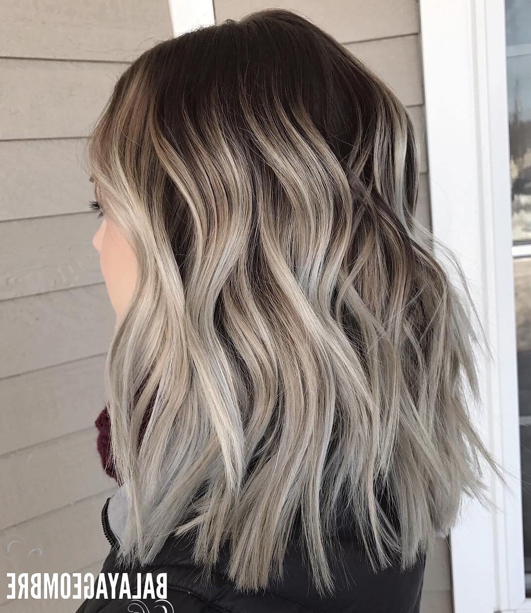10 Best Medium Layered Hairstyles 2018 Brown & Ash Blonde Fashion Colors In Newest Dark Blonde Into White Hairstyles (View 1 of 20)