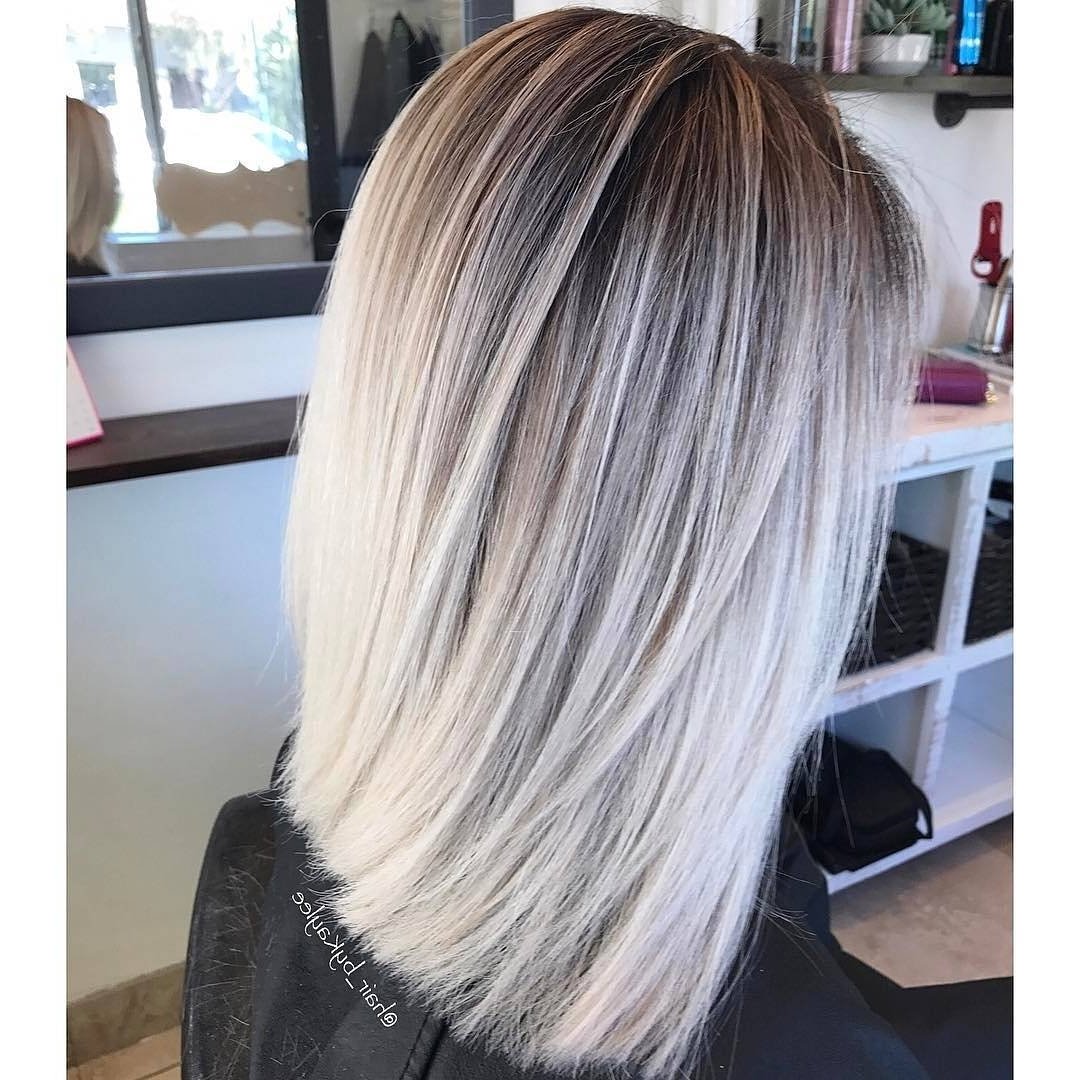 10 Blonde Balayage Hair Color Ideas In Beige Gold Silver & Ash Inside Favorite Silver Blonde Straight Hairstyles (View 10 of 20)