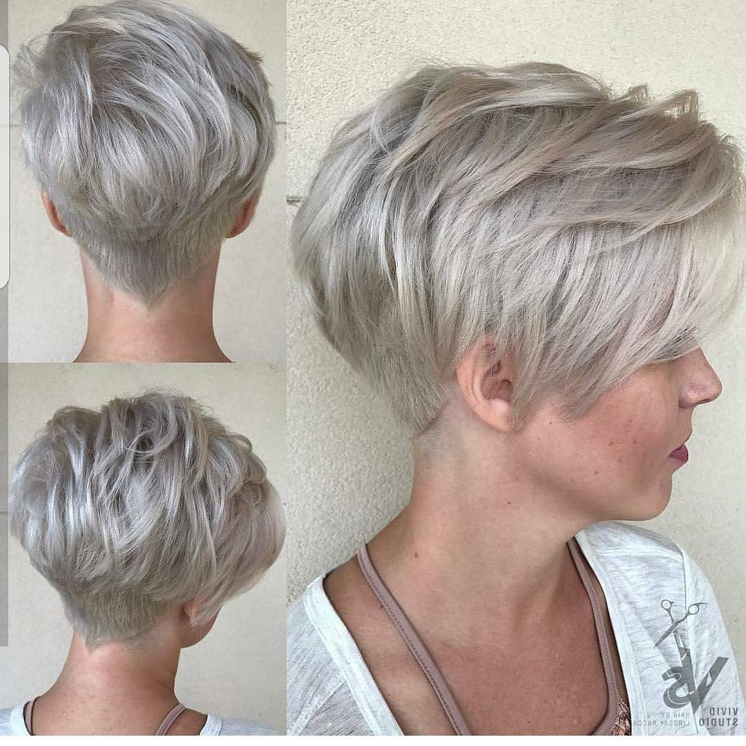 10 Easy Pixie Haircut Styles & Color Ideas, 2018 Women Short Hairstyles In 2017 Short Silver Crop Blonde Hairstyles (View 12 of 20)