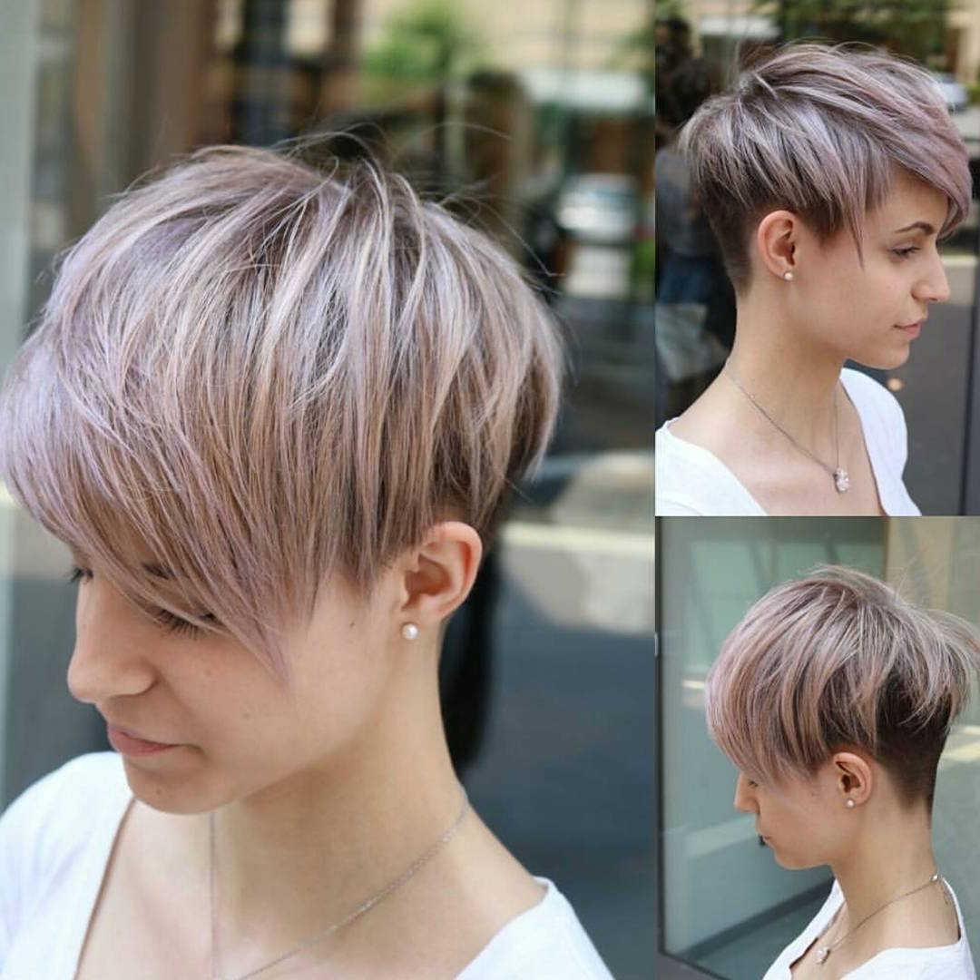 10 Easy Pixie Haircut Styles & Color Ideas, 2018 Women Short Hairstyles Within 2018 Side Parted Silver Pixie Bob Hairstyles (View 4 of 20)