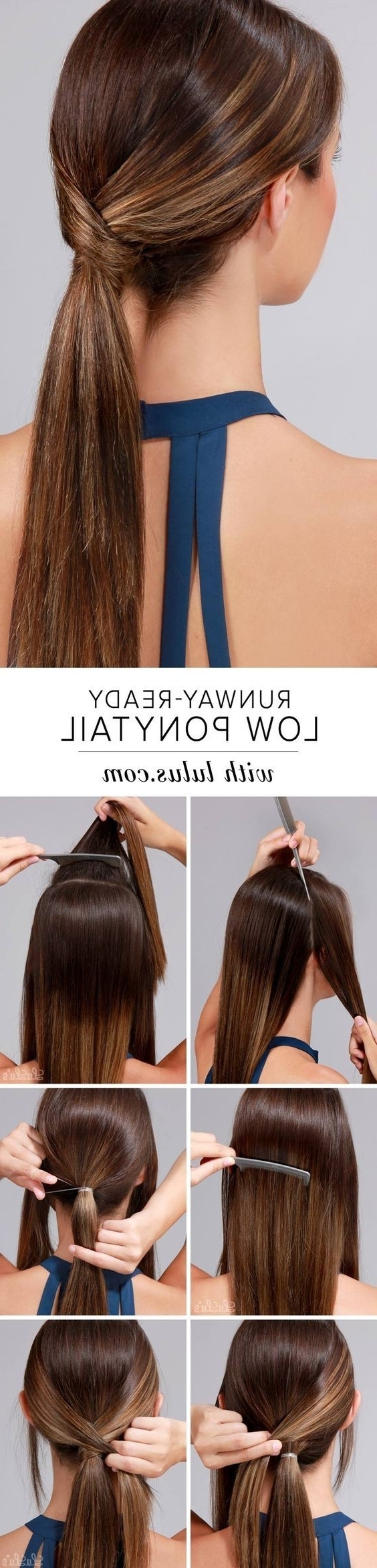 10 Easy Ponytail Hairstyles: Long Hair Style Ideas 2018 Within Best And Newest Low Twisted Pony Hairstyles For Ombre Hair (View 2 of 20)