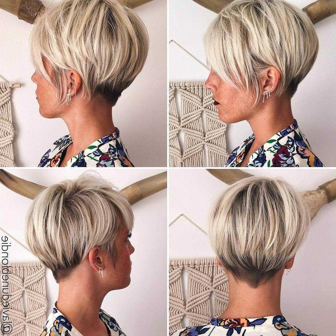 10 Latest Pixie Haircut For Women – 2018 Short Haircut Ideas With A Throughout Fashionable Wheat Blonde Hairstyles (View 1 of 20)