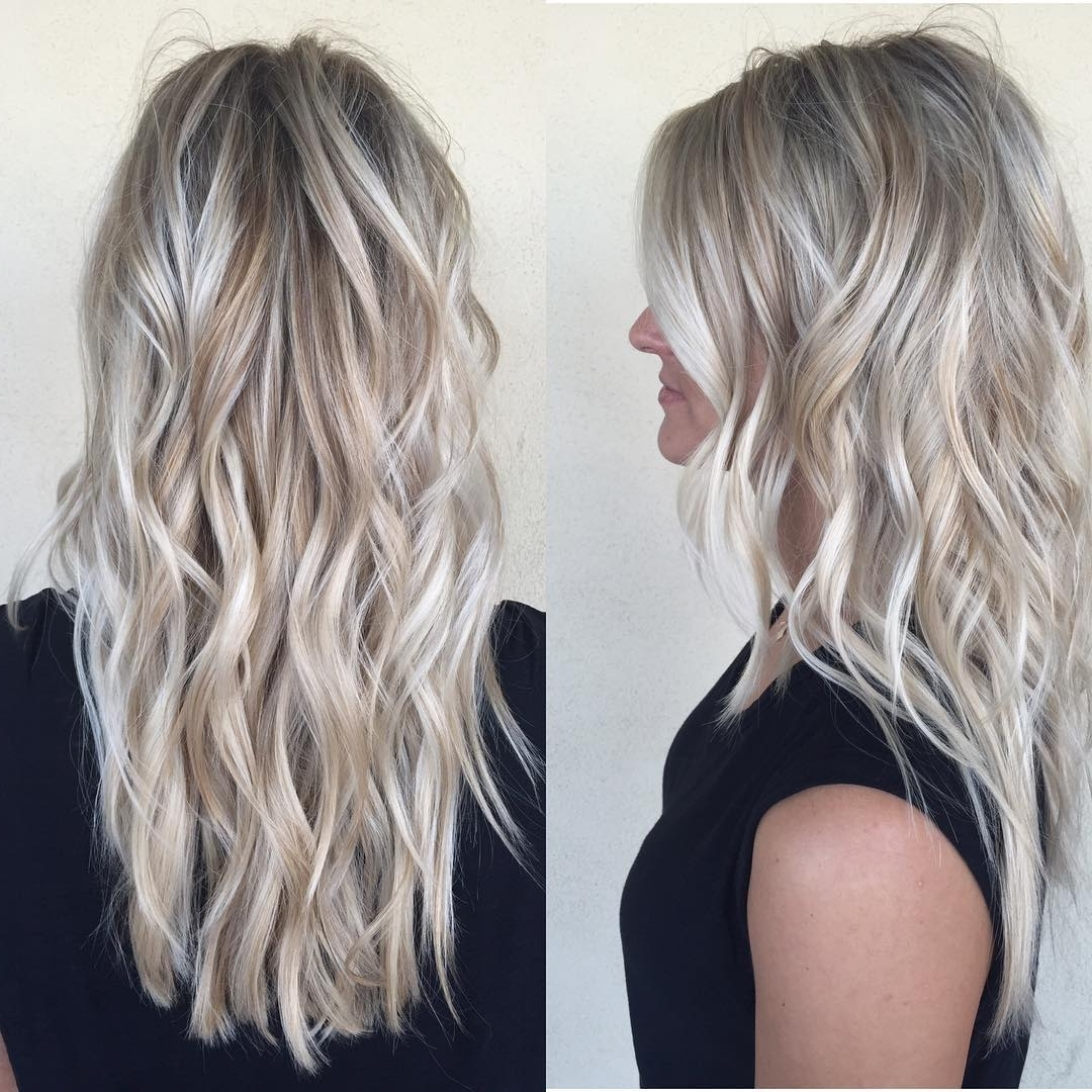 10 Layered Hairstyles & Cuts For Long Hair, Women Long Haircuts 2018 For Most Popular Silver Blonde Straight Hairstyles (View 17 of 20)