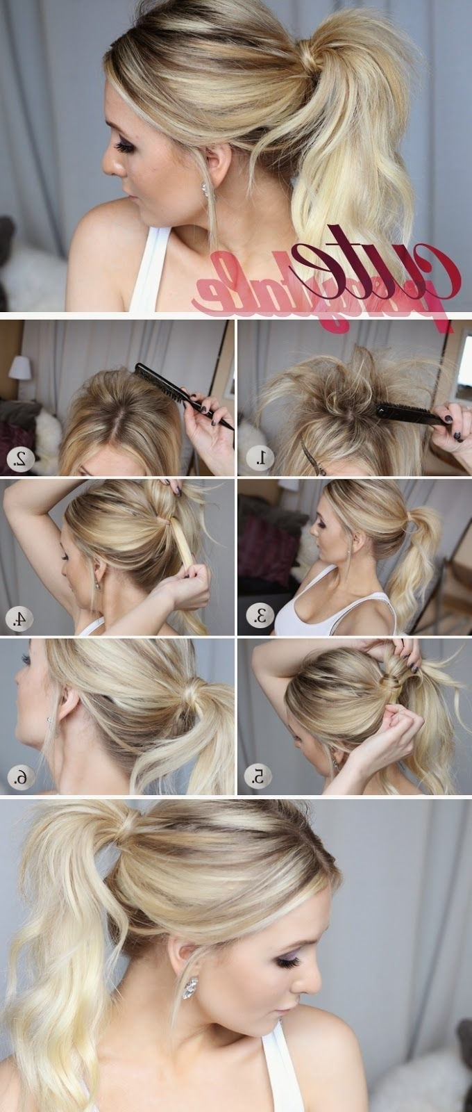 10 Quick And Simple Ponytail Tutorials For Fall (View 1 of 20)