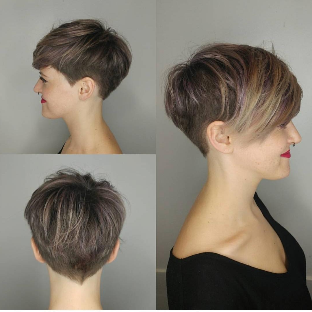 10 Stylish Pixie Haircuts – Women Short Undercut Hairstyles 2018 – 2019 With Regard To Fashionable Pixie Bob Hairstyles With Temple Undercut (View 2 of 20)