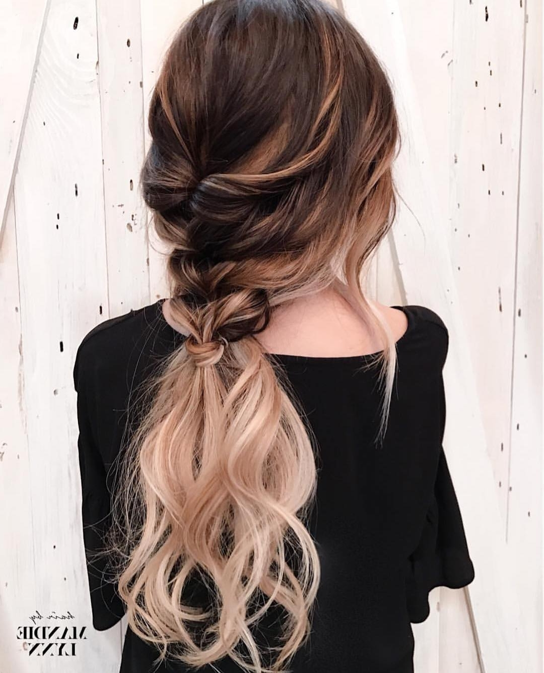 10 Trendiest Ponytail Hairstyles For Long Hair 2018 – Easy Ponytails Intended For Most Up To Date Ponytail Hairstyles With Wild Wavy Ombre (View 1 of 20)