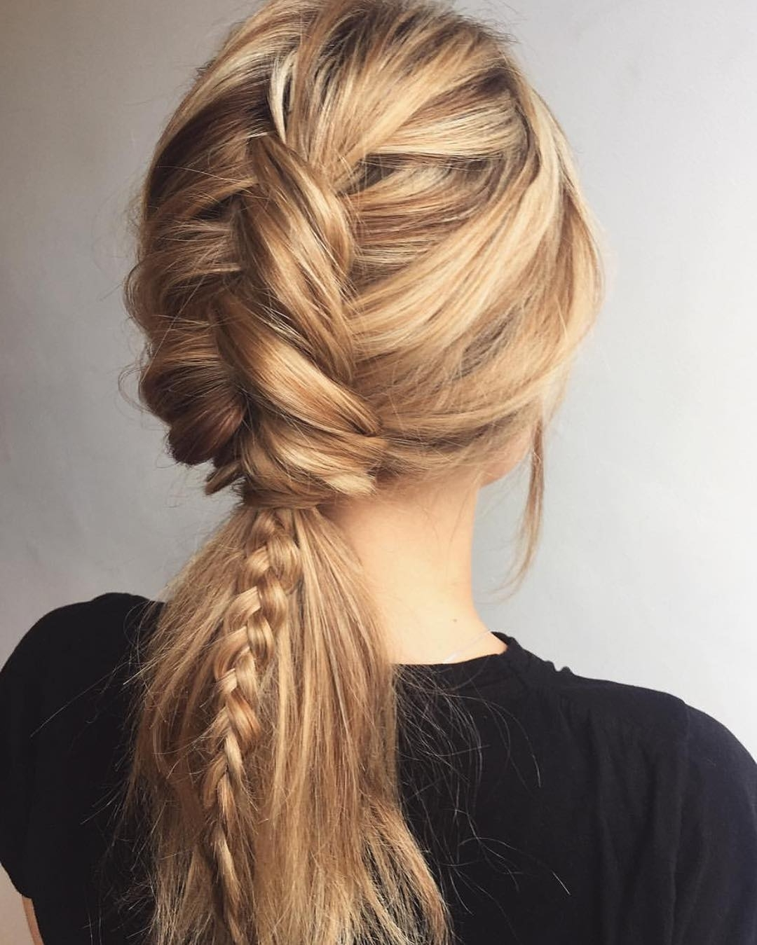 10 Ultra Ponytail Braided Hairstyles For Long Hair; Parties! 2018 Pertaining To Well Known Pony Hairstyles With Textured Braid (View 1 of 20)