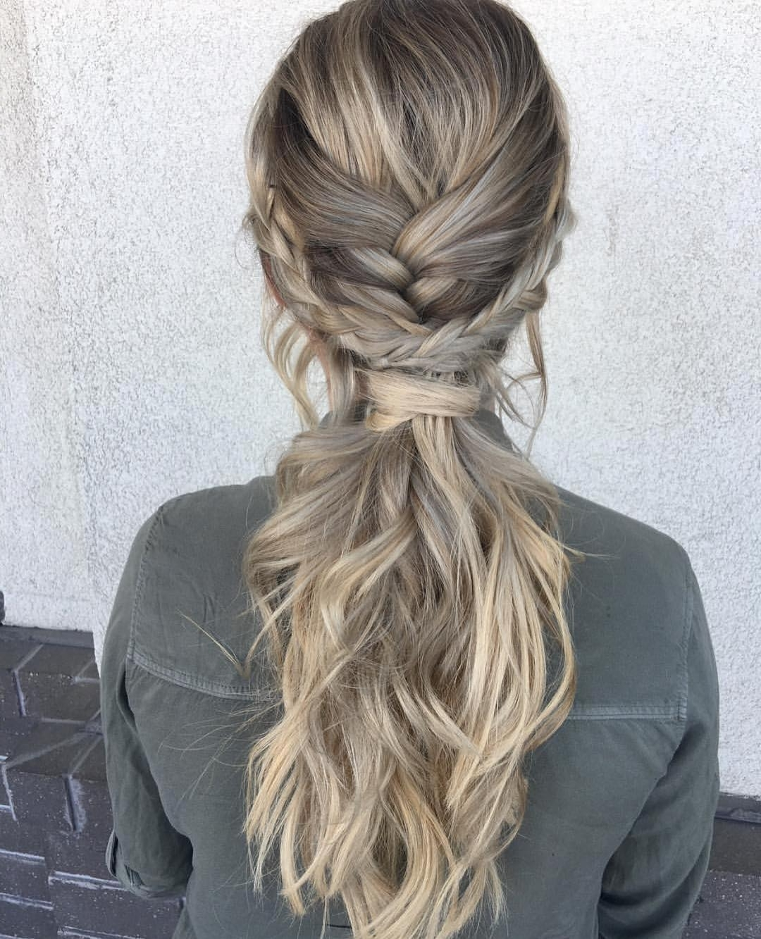 10 Ultra Ponytail Braided Hairstyles For Long Hair; Parties! 2018 Within Favorite Pony Hairstyles With Textured Braid (View 2 of 20)