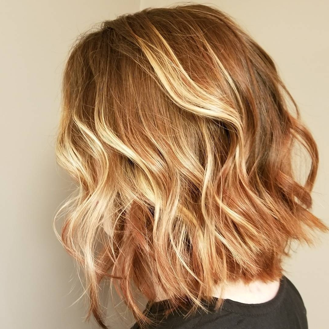 10 Wavy Shoulder Length Hairstyles With Edge, 2018 Women Medium Hair Throughout Most Recent White And Dirty Blonde Combo Hairstyles (View 20 of 20)