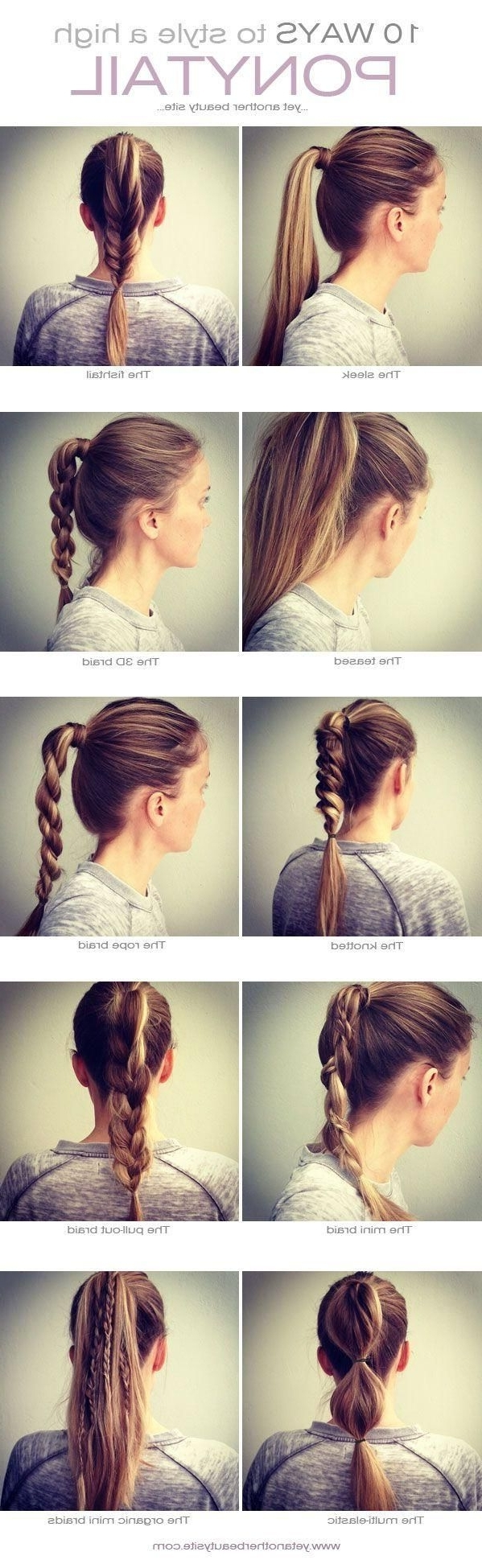 10 Ways To Style A High Ponytail #hairstyle, This Is My Life (View 1 of 20)