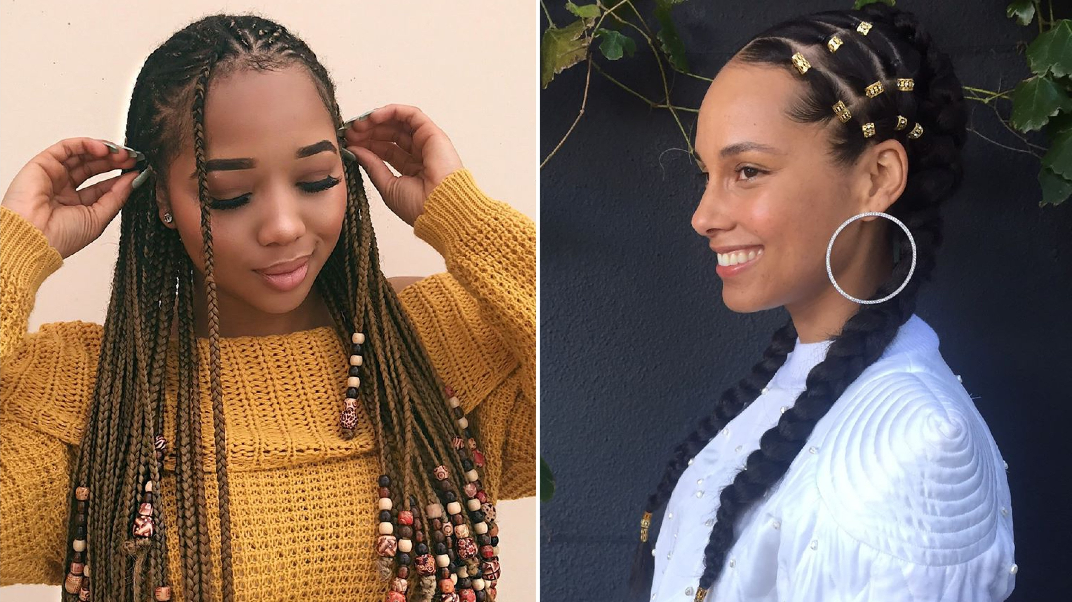 Featured Photo of Chunky Black Ghana Braids Ponytail Hairstyles