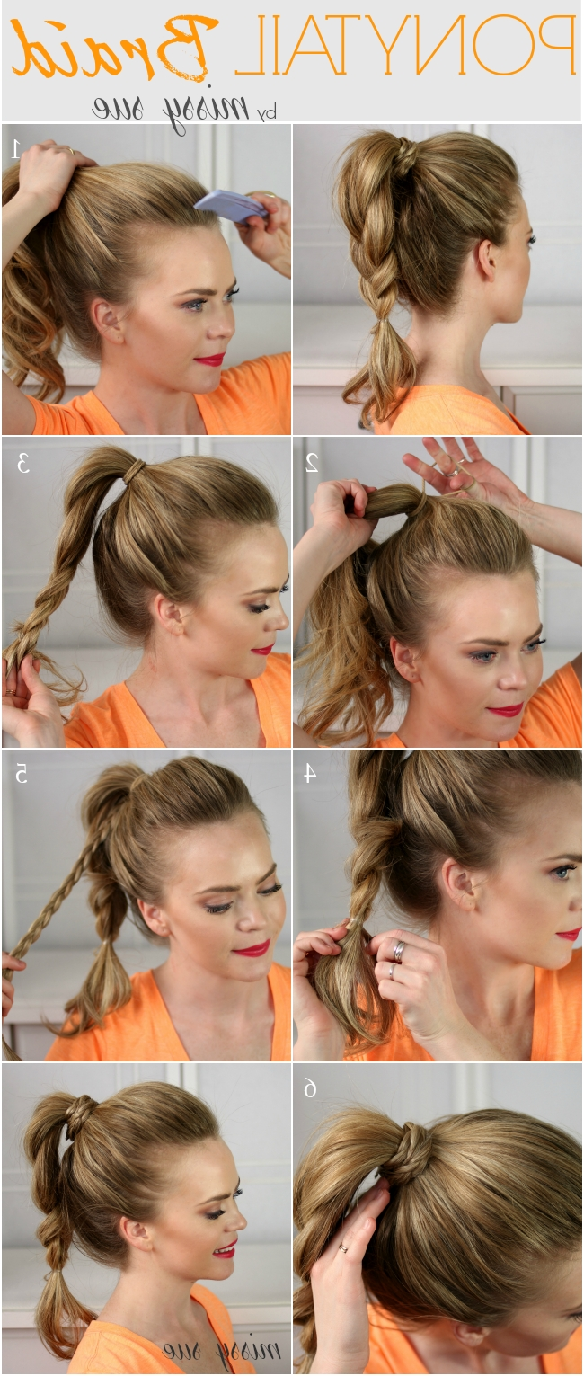 12 Super Easy Ponytail Hairstyles – Fashionsy In 2018 Bouffant And Braid Ponytail Hairstyles (View 2 of 20)