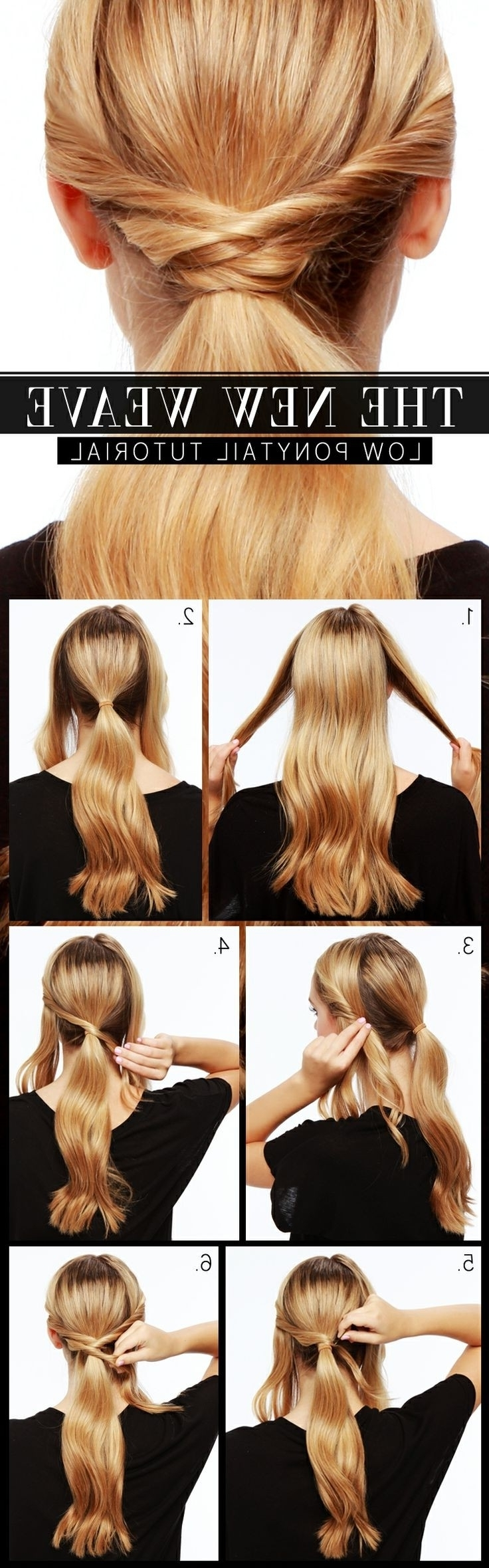 15 Cute And Easy Ponytail Hairstyles Tutorials – Popular Haircuts With Fashionable Low Twisted Pony Hairstyles For Ombre Hair (View 6 of 20)