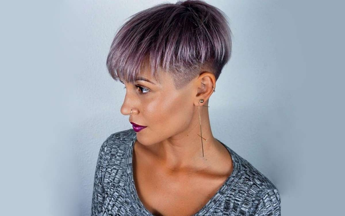 15 Short Hairstyles For Thick Hair To Look Amazing – Haircuts With Regard To Trendy Side Parted Silver Pixie Bob Hairstyles (View 17 of 20)