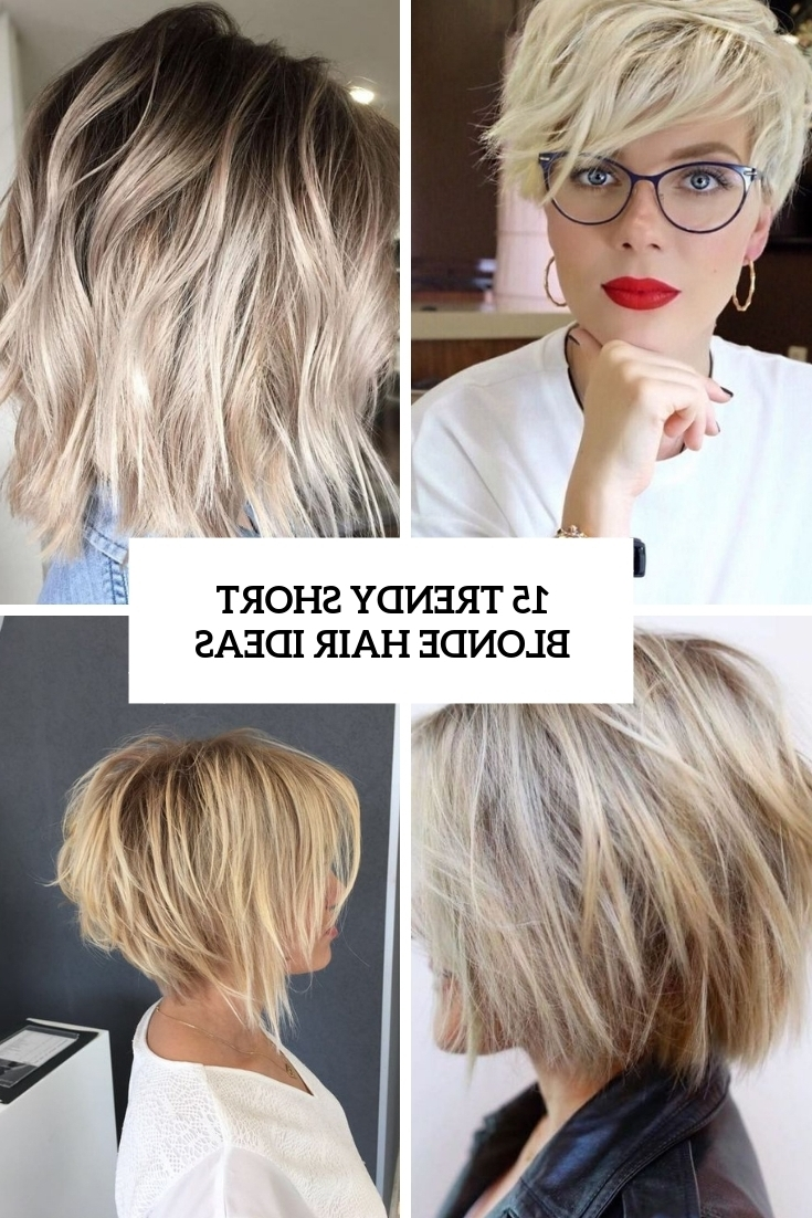 15 Trendy Short Blonde Hair Ideas – Styleoholic Pertaining To Widely Used Ashy Blonde Pixie Hairstyles With A Messy Touch (View 5 of 20)