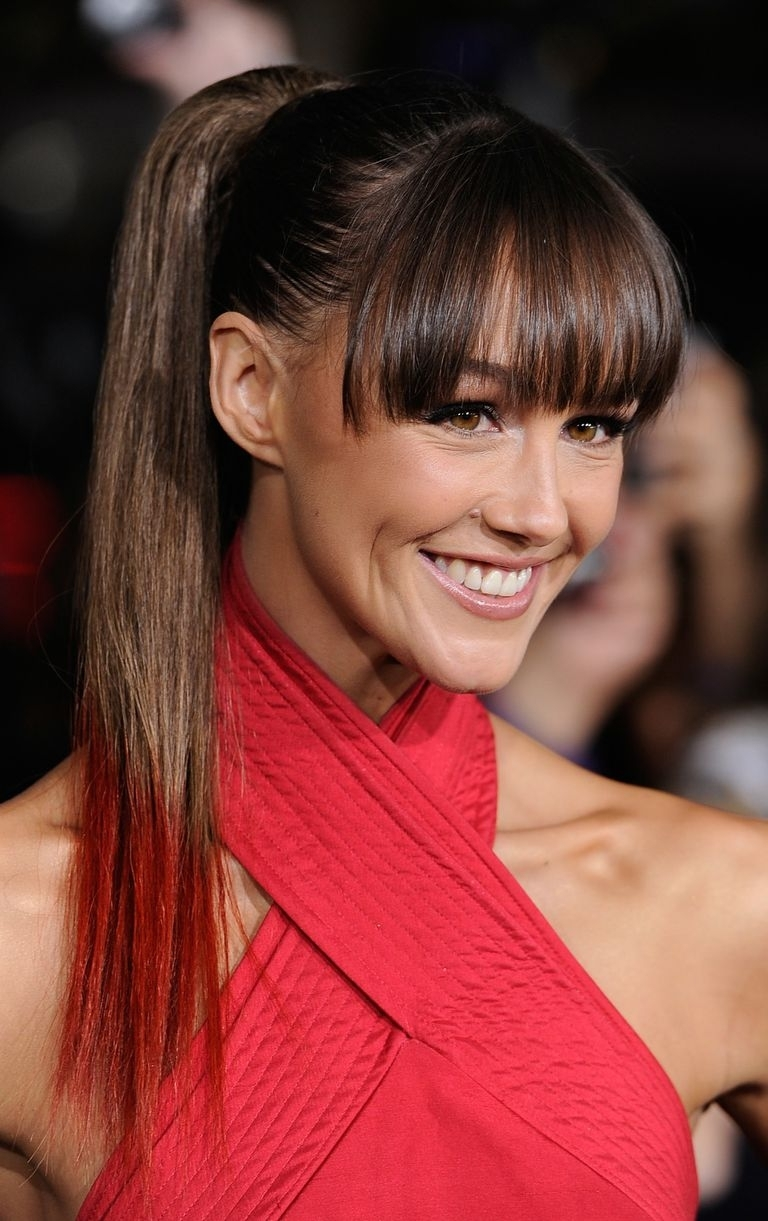 16 Great Hairstyles With Bangs Inside Well Liked High Ponytail Hairstyles With Side Bangs (View 1 of 20)