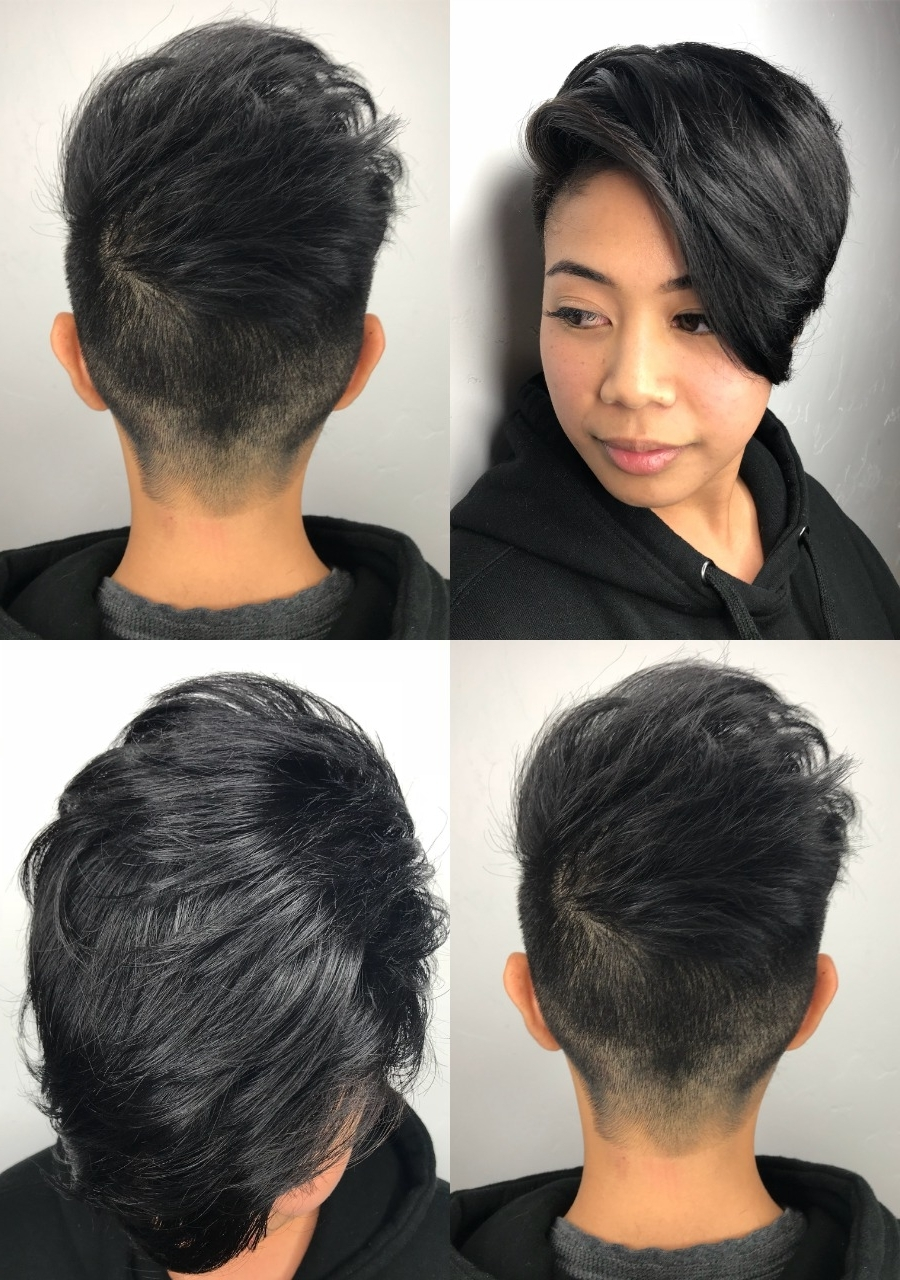 18 Beautiful Short Pixie Cut Hairstyles Women's Loving Right Now Regarding Well Known Uneven Undercut Pixie Hairstyles (View 1 of 20)