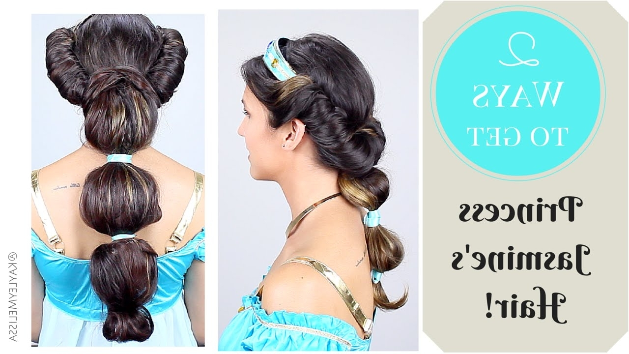 2 Ways To Get Princess Jasmine's Hair – Youtube For Most Recently Released Princess Tie Ponytail Hairstyles (View 2 of 20)