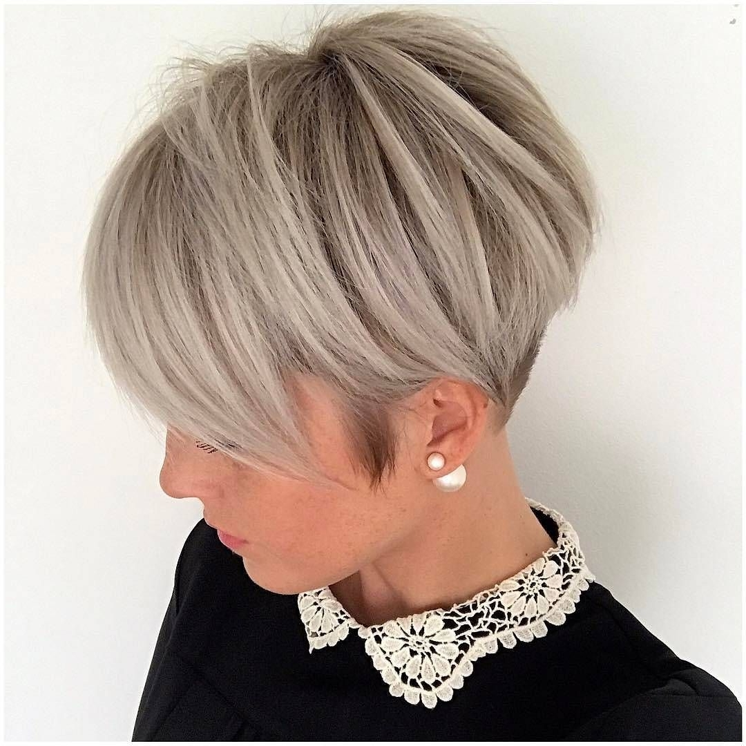 20 Adorable Ash Blonde Hairstyles To Try: Hair Color Ideas 2018 With Popular Sassy Silver Pixie Blonde Hairstyles (View 1 of 20)