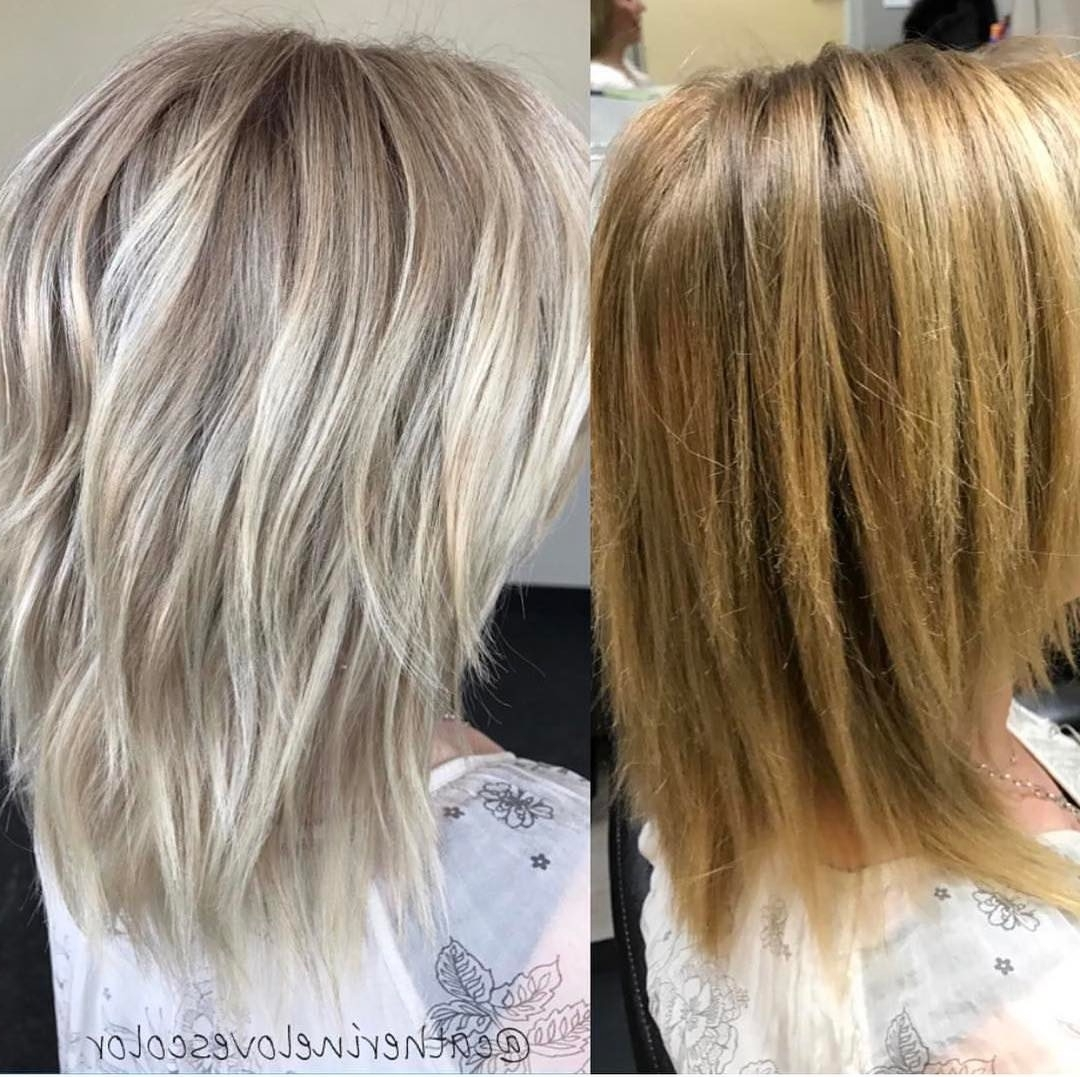 20 Adorable Ash Blonde Hairstyles To Try: Hair Color Ideas 2018 With Regard To Newest Caramel Blonde Lob With Bangs (View 2 of 20)