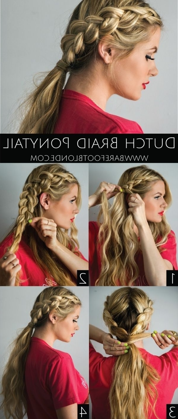 20 Amazing Ponytail Hair Tutorials For Beginners (View 2 of 20)