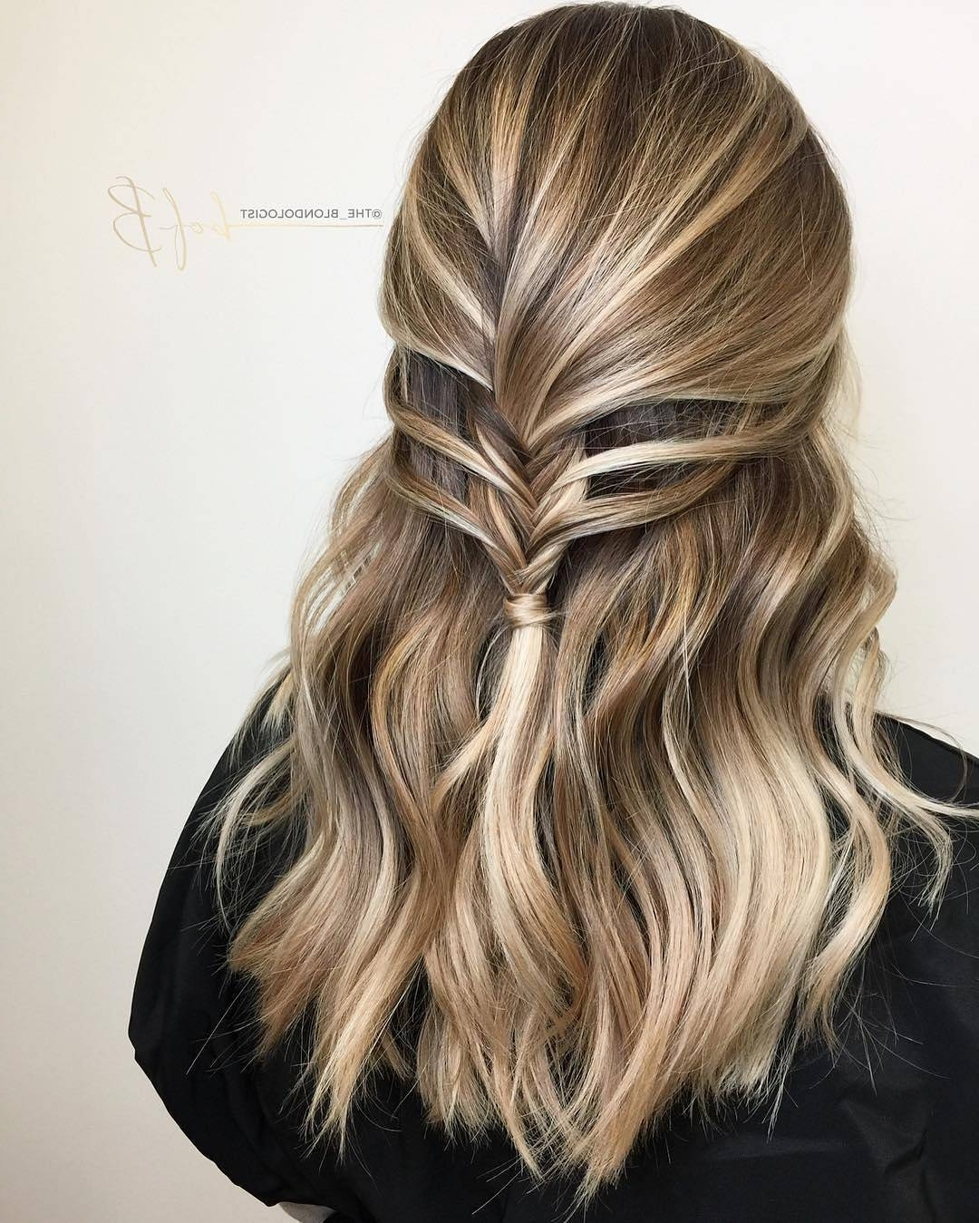 20 Beautiful Blonde Balayage Hair Color Ideas – Trendy Hair Color 2017 With Newest Ash Blonde Half Up Hairstyles (View 3 of 20)