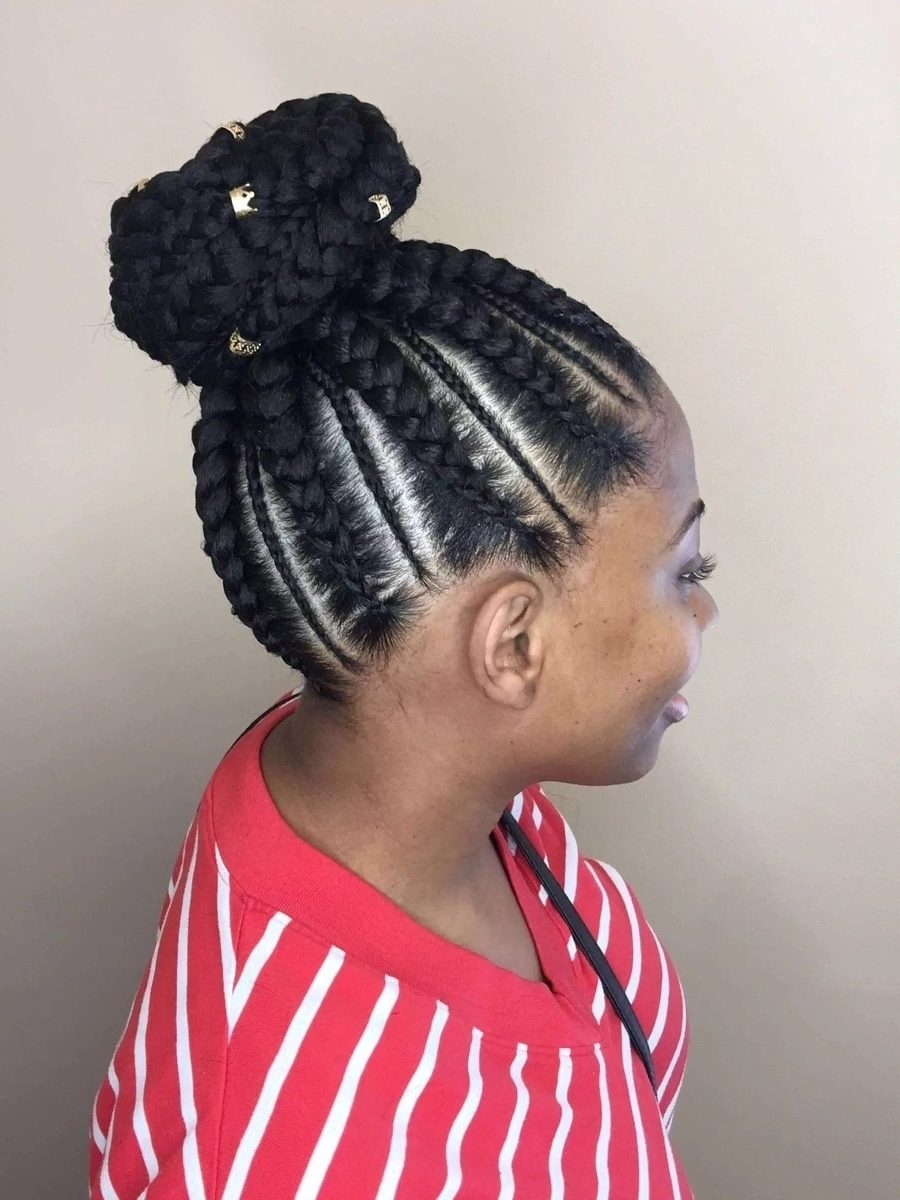 20 Cute African Cornrow Braid Hairstyles With An Updo ▷ Tuko.co (View 3 of 20)